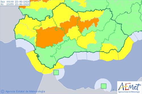 Primera alerta por altas temperaturas del mes de junio